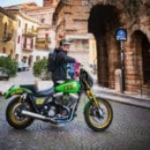 Arriva in moto a Motor Bike Expo